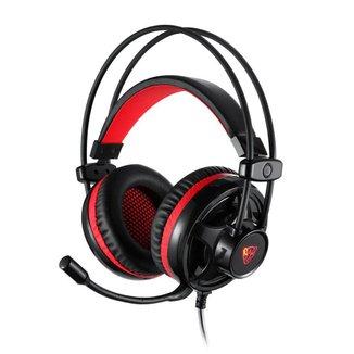 Headset Gamer Motospeed H11 Preto 5.1 Led Vermelho