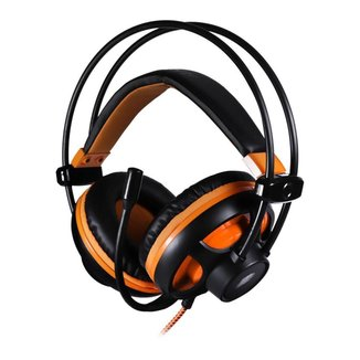 Headset Gamer OEX Argos HS417 Preto/Laranja 7.1 USB