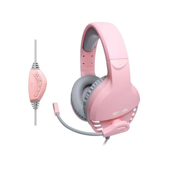 Headset Gamer OEX Game PC 7.1 Canais - Pink