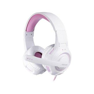 Headset Gamer OEX Gorky HS413 Branco/Rosa Multiplataforma