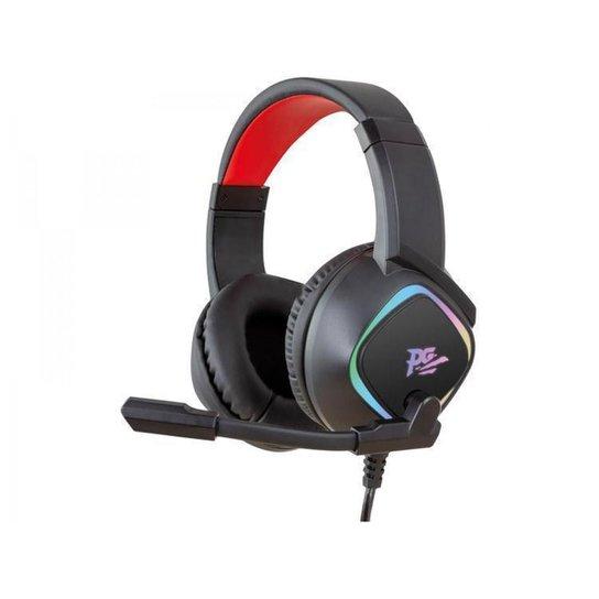 Headset Gamer Philco PHS750 PC 7.1 - Preto+Vermelho