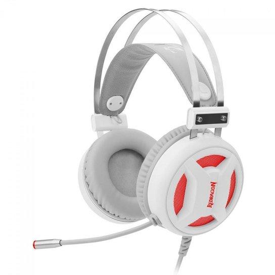 Headset Gamer Redragon Minos Branco - Preto