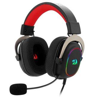 Headset Gamer Redragon Zeus X H510-RGB - 7.1 Surround - Controle de Volume e Microfone - RGB - USB