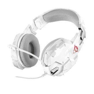 Headset Gamer Trust Carus Branco com fio - Multiplataforma