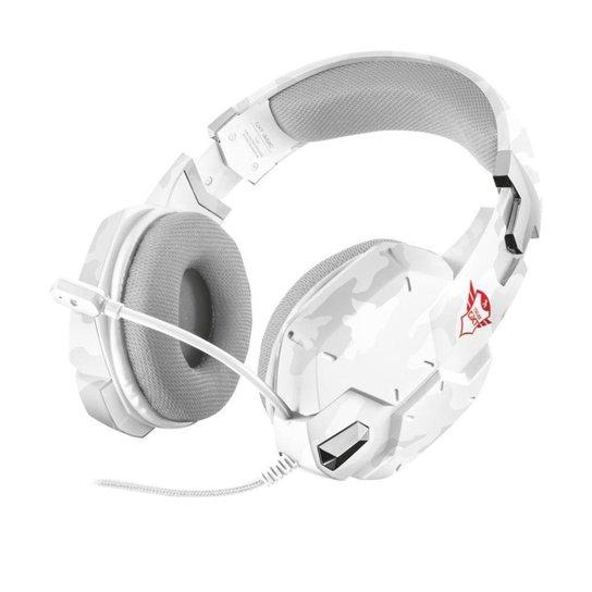 Headset Gamer Trust Carus Branco com fio - Multiplataforma - Branco