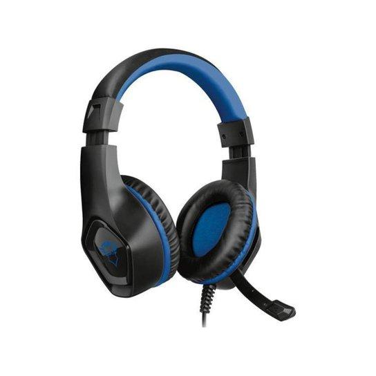 Headset Gamer Trust - GXT 404B Rana - Preto+Azul