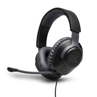 Headset JBL Quantum 100 - Preto/Laranja