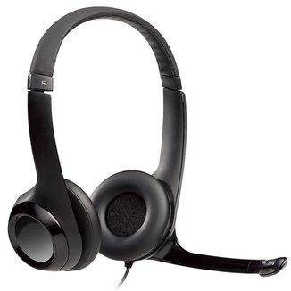 Headset Logitech H390 - Microfone giratório - USB - Cabo 2.3m - 981-000014