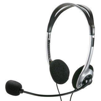 Headset Multilaser PH002 Estéreo com Microfone 1,8 M P2 Preto