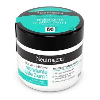 Hidratante Facial Neutrogena Face Care Intensive Hidratante Matte 3 em 1 100g