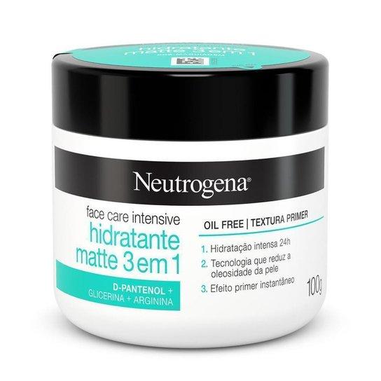 Hidratante Facial Neutrogena Face Care Intensive Hidratante Matte 3 em 1 100g - Única