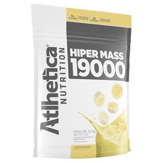 Hiper Mass 19000 Refil - 3200g Banana - Atlhetica Nutrition