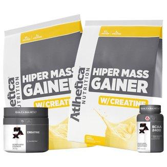 Hiper Mass Atlhetica - Banana 3kg  + Creatina & Bcaa Max Titanium