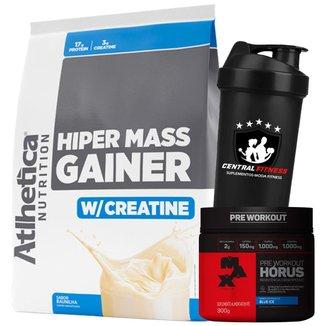 Hiper Mass Gainer 3kg + Horús + Coqueteira - Atlhetica Nutrition