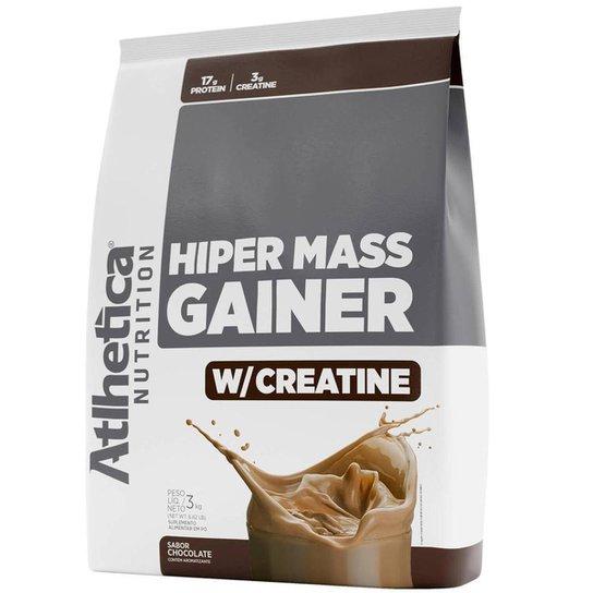 Hipercalórico Massa Hiper Mass Gainer com Creatina 3Kg - Atlhetica Nutrition -