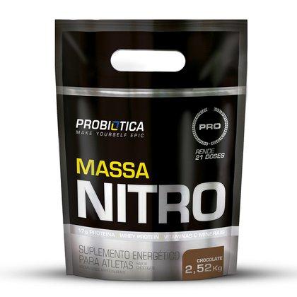 Hipercalórico Massa Nitro Refil Pouch Probiótica 2,52kg