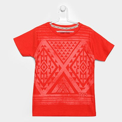 Camiseta Infantil Tigor T. Tigre Estampada Masculina