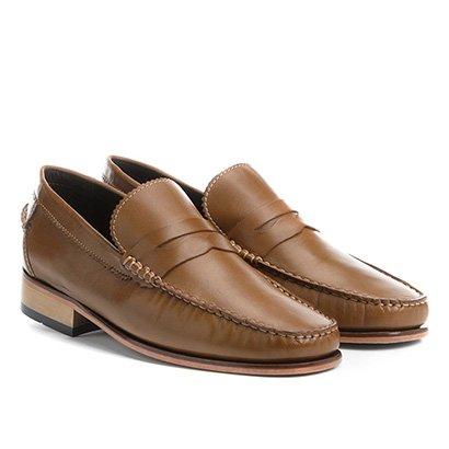 Sapato Casual Couro Shoestock Rústico