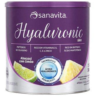 Hyaluronic ácido hialurônico Colágeno Skin da Sanavita abacaxi com limão 270g