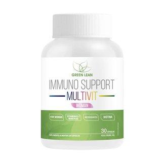 IMMUNO SUPPORT MULTIVIT WOMAN (30 cápsulas) - GREEN LEAN