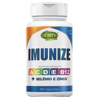 Imunize Selênio Zinco e Vitaminas A C D E B12 Alto Teor 60 cápsulas de 600mg