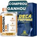 Ioimbina (Yohimbine) 5mg com 60 cápsulas + Deca Testona