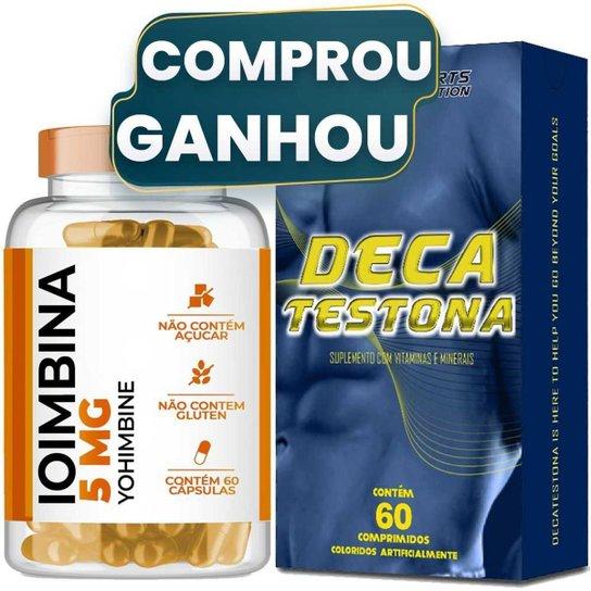 Ioimbina (Yohimbine) 5mg com 60 cápsulas + Deca Testona -