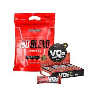 ISO BLEND - WHEY BLEND (907g) + BARRA DE PROTEÍNA VO2 DISPLAY (12 unidades) - Morango