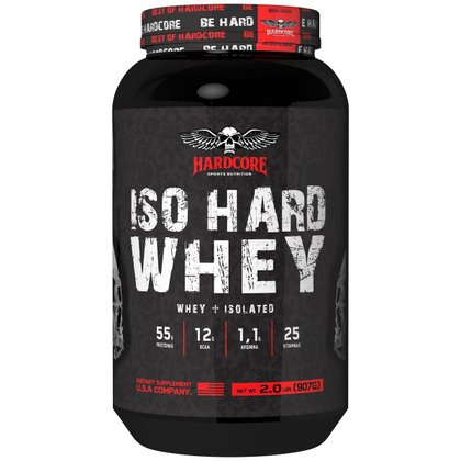 Iso Hard Whey 907g - Isolado Morango - Hardcore Sports Nutrition