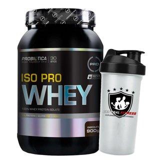 Iso Pro Whey 900g Chocolate + Coqueteleira - Probiotica