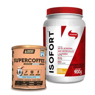 Isofort Baunilha 900g- Vitafor e Supercoffee Vanilla 220g- Caffeinearmy