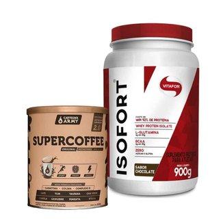 Isofort Chocolate 900g- Vitafor e Supercoffee 2.0 220G- Caffeinearmy