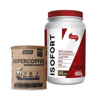 Isofort Chocolate 900g- Vitafor e Supercoffee Chocolate 220g- Caffeinearmy