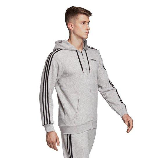 Menor preço em Jaqueta Adidas 3S com Capuz Masculina  - Cinza e Preto
