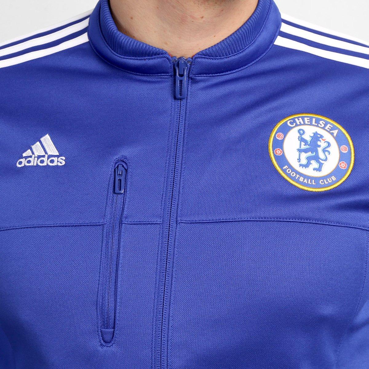 Jaqueta Adidas Chelsea Hino - Compre Agora  73ee5f817b939