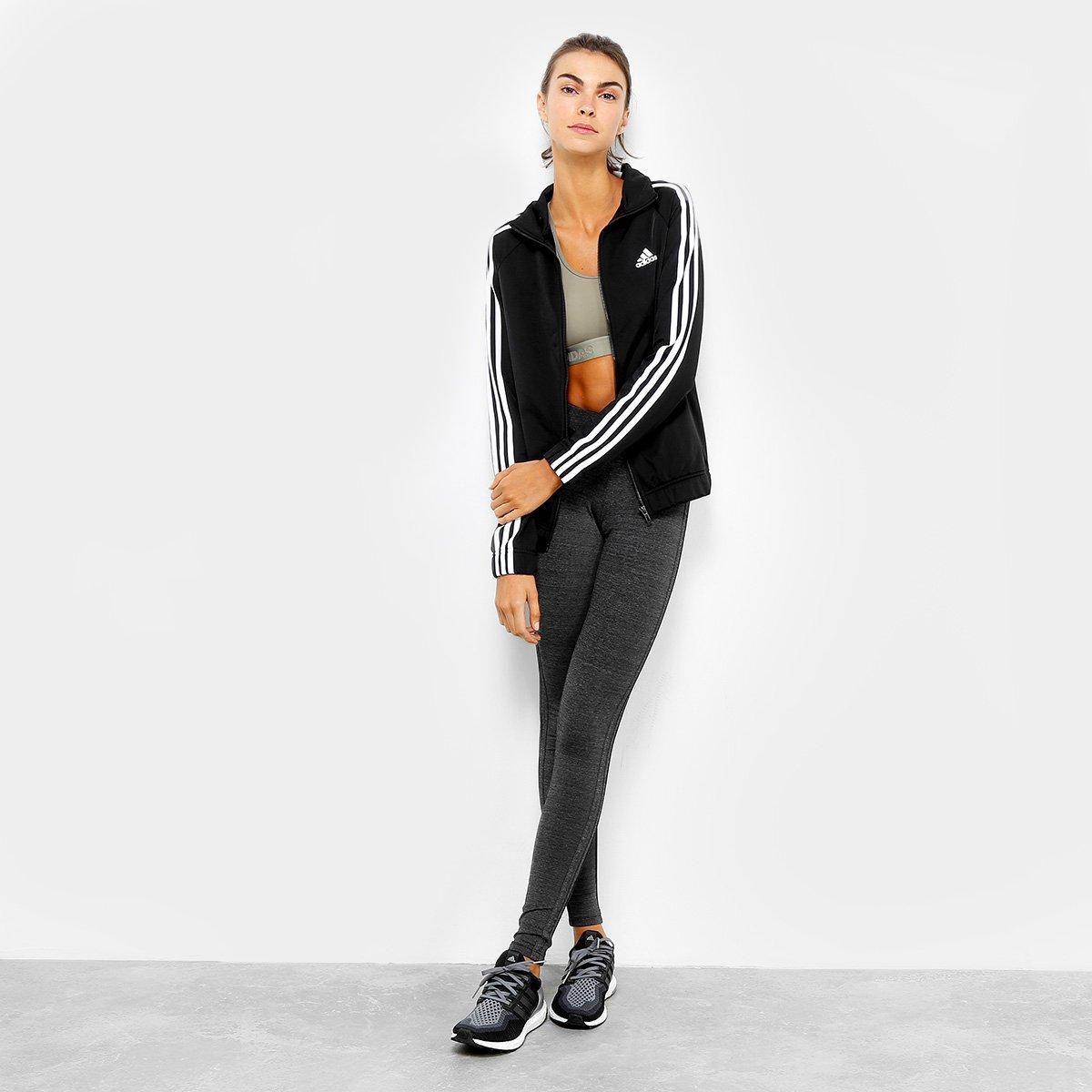 Jaqueta Adidas D2M Tracktop Feminina - Compre Agora  63dfd3d727d1f