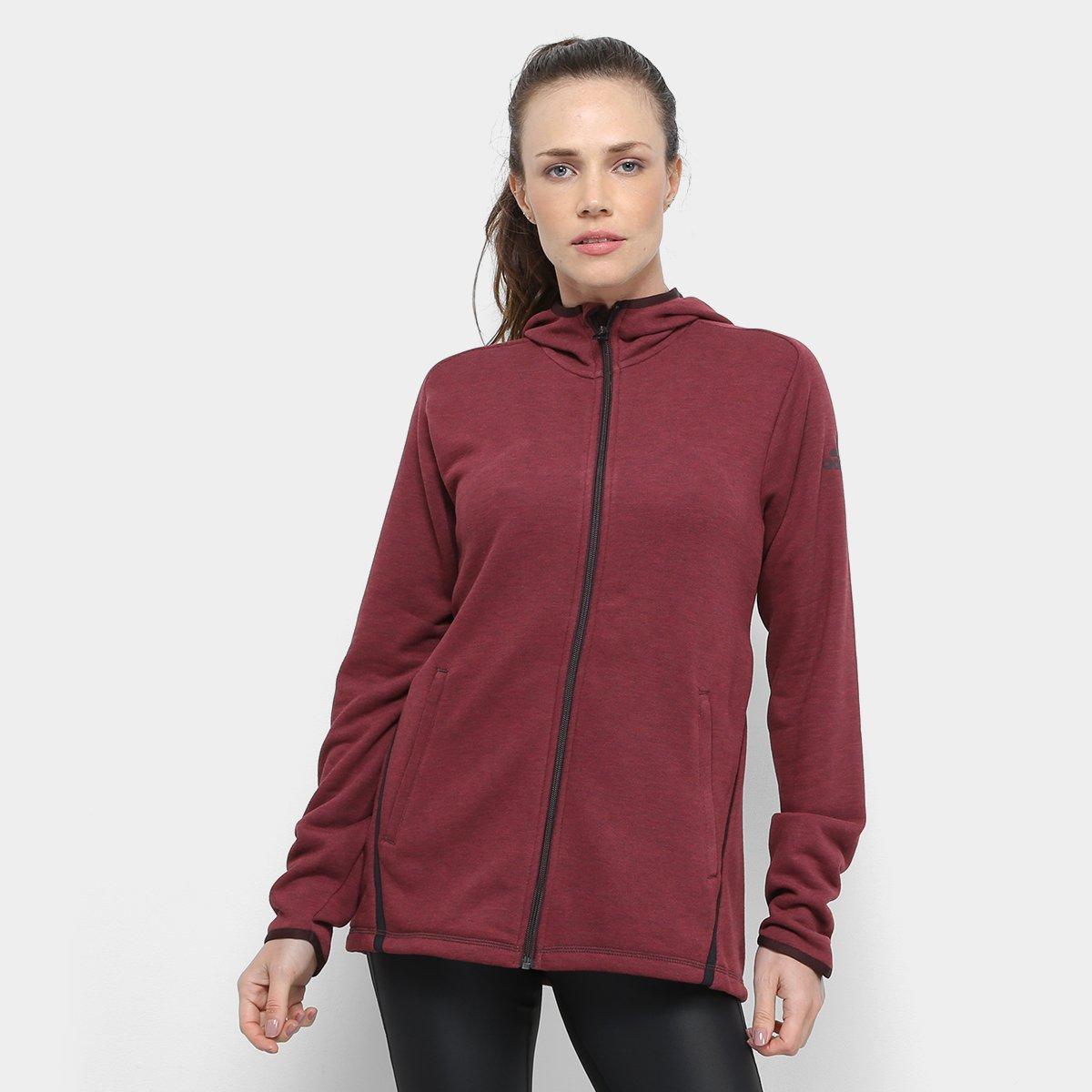 fa9d1361474 Jaqueta Adidas Freelift Light Hoodie Capuz Feminina - Vermelho Escuro -  Compre Agora