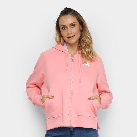 Jaqueta Adidas Hoodie Feminina - Rosa