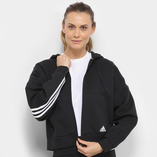 Lágrimas Gárgaras Redada  Jaqueta Adidas Mh 3S Dk Hd Feminina | Netshoes