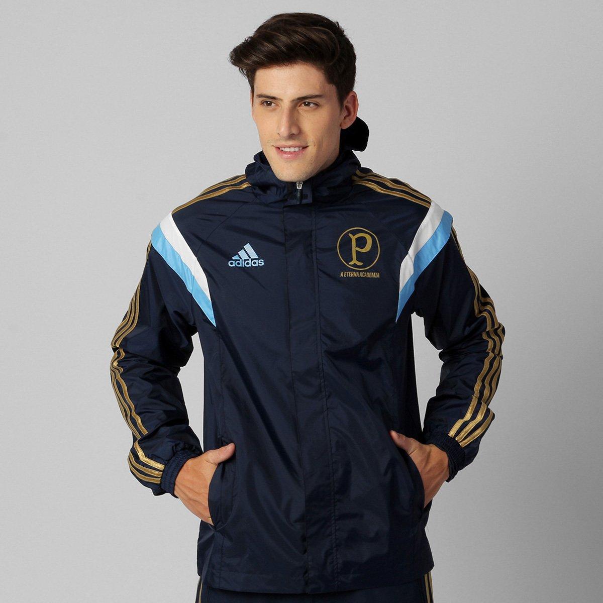 Jaqueta Adidas Palmeiras All c  Capuz - Compre Agora  a137342a0a844