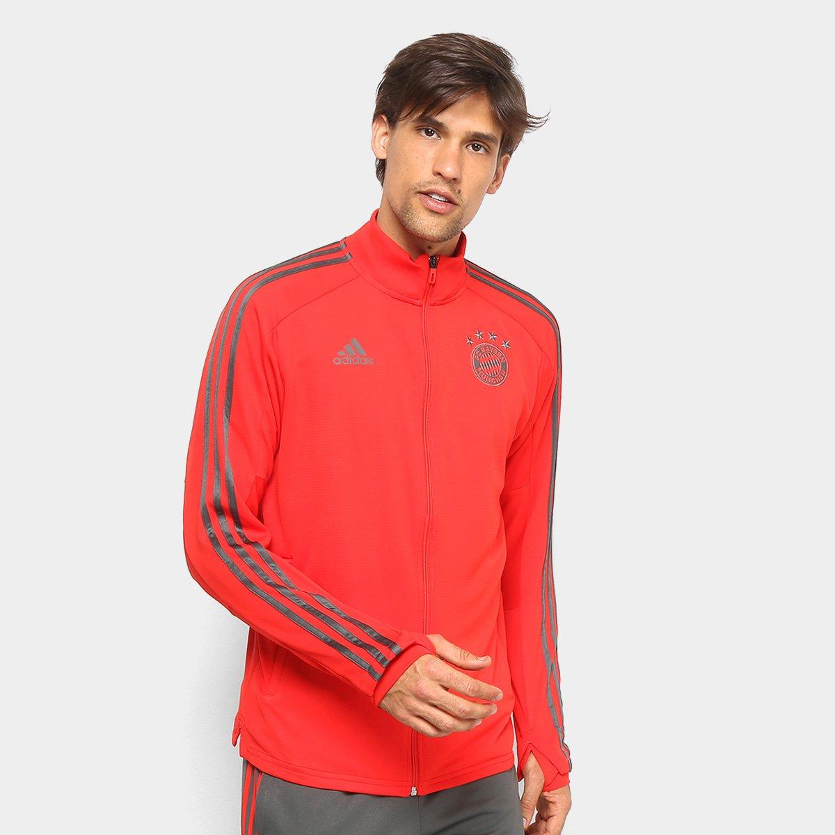 334bebea6cb38b Jaqueta Bayern de Munique Treino Adidas Masculina - Vermelho | Netshoes