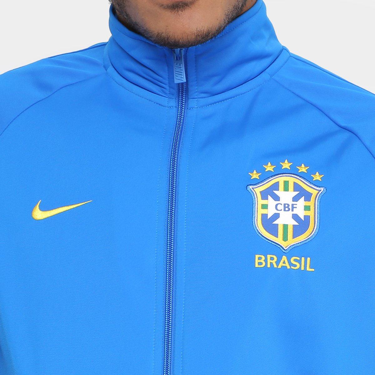 Jaqueta Brasil Nike Masculina - Azul - Compre Agora  ea3b62706437a