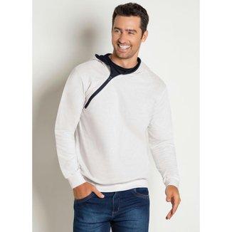 Jaqueta com Capuz e zipper masculina
