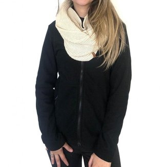Jaqueta Conquista Fleece Glaciar Zíper Inteiro Feminina