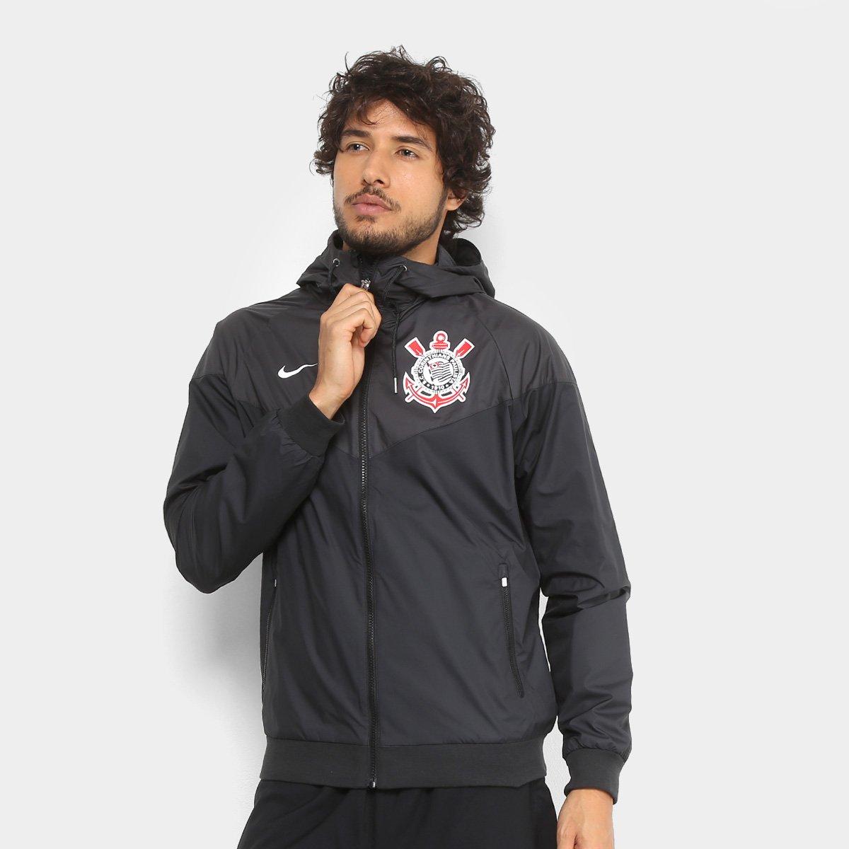 Jaqueta Corinthians Nike Sportwear c  Capuz Masculina - Compre Agora ... 85e3f76484fee