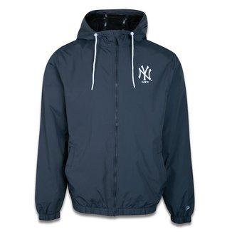 JAQUETA CORTA VENTO (WINDBREAKER) MLB NEW YORK YANKEES SAZONAL QUAD MARINHO NEW ERA