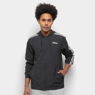 Jaqueta Corta Vento Adidas Essentials 3 Stripes Masculina