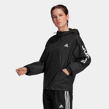 Jaqueta Corta Vento Adidas Linear Colorblock Feminina