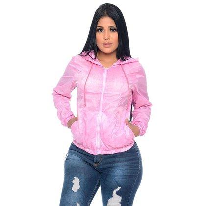 Jaqueta Corta Vento Com Forro Rosa Emporio Alex