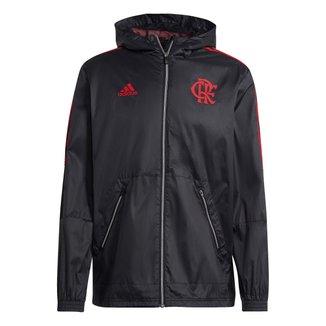 Jaqueta Corta-Vento Flamengo Apresentação 21/22 Adidas Masculina